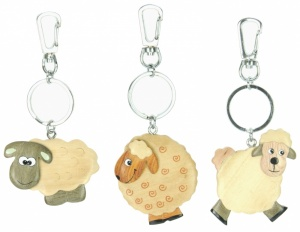 Keyrings - Sheep - 3 Designs (Pack Size 30)